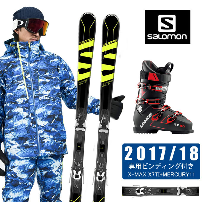 サロモン salomon スキー板 3点セット メンズ X-MAX X7TI+MERCURY11 + SX 90 tr. black-red スキー板+ビンディング+ブーツ