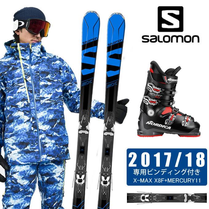 サロモン salomon スキー板 3点セット メンズ X-MAX SX + MERCURY11 + SPORTMACHINE 80 ANTBKRD スキー板+ビンディング+ブーツ