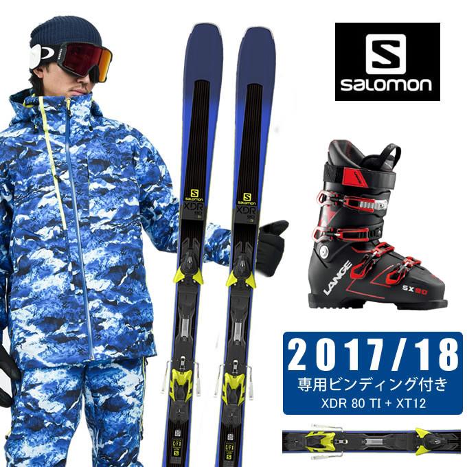 サロモン salomon スキー板 3点セット メンズ XDR 80 TI + XT12 + SX 90 tr. black-red スキー板+ビンディング+ブーツ