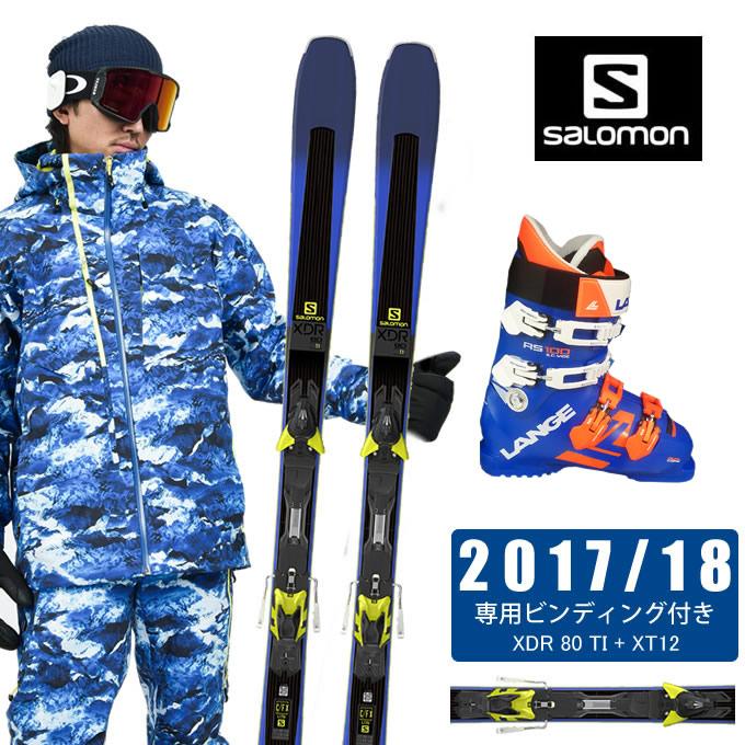 若者の大愛商品 サロモン salomon スキー板 3点セット メンズ XDR 80 TI + XT12 + RS 100 S.C.WIDE スキー板+ビンディング+ブーツ, プロ用ヘアケア&コスメ リヤン bb50d08d
