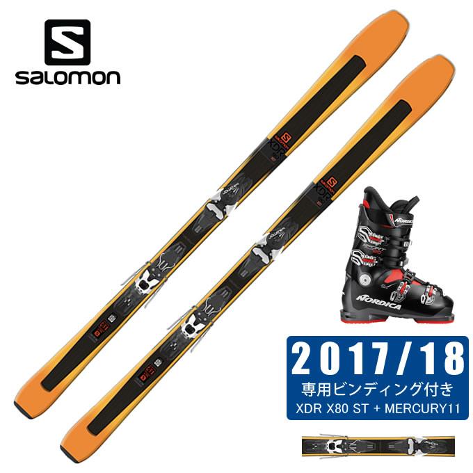 サロモン salomon スキー板 3点セット メンズ XDR 76 HT + LITHIUM 10 + SPORTMACHINE 80 スキー板+ビンディング+ブーツ