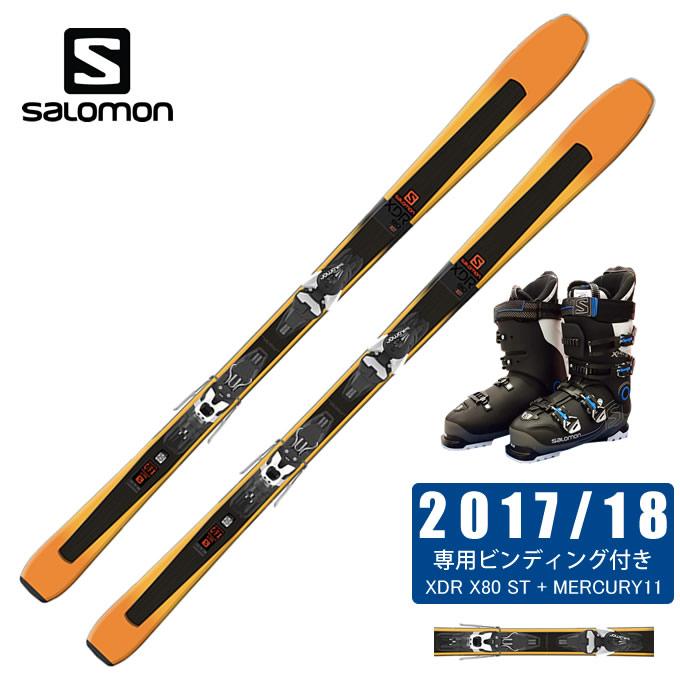 サロモン スキー板 3点セット メンズ XDR 80 ST + MERCURY11-21 + X-PRO SPORTS 100 スキー板+ビンディング+ブーツ salomon