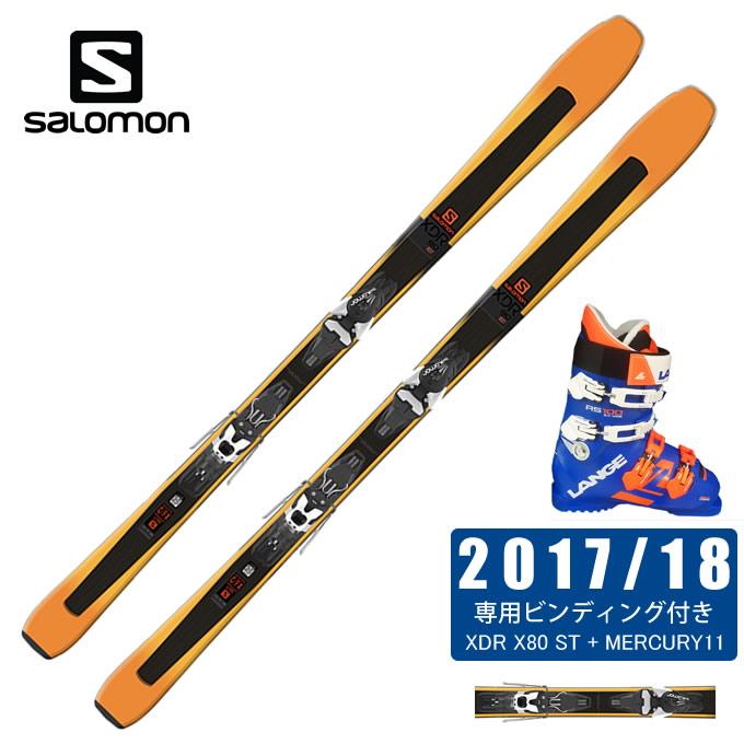 サロモン salomon スキー板 3点セット メンズ XDR 80 ST + MERCURY11-21 + RS 100 S.C.WIDE スキー板+ビンディング+ブーツ