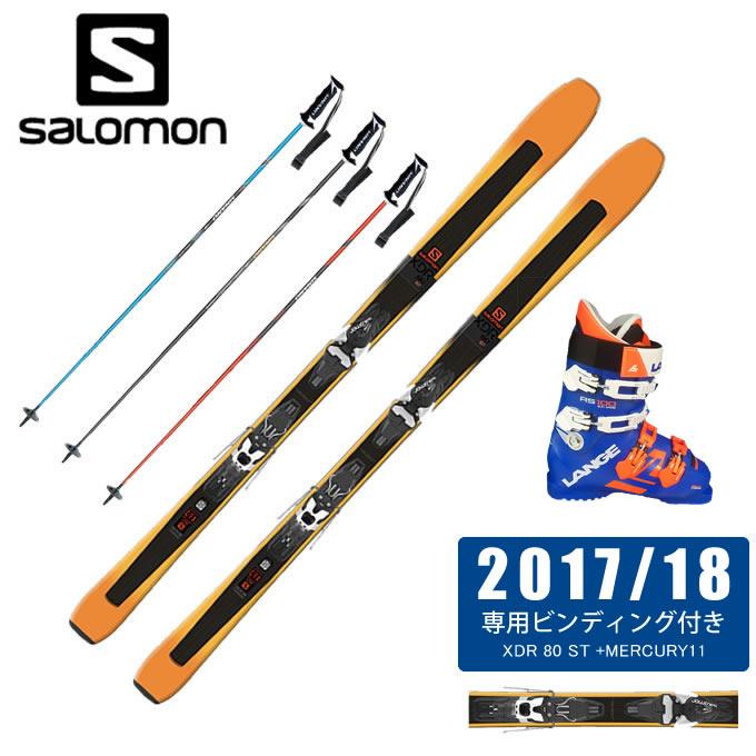 サロモン salomon スキー板 4点セット メンズ XDR 80 ST + MERCURY11-21 + RS 100 S.C.WIDE + CX-FALCON