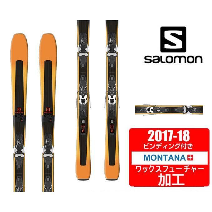 サロモン スキー板セット 金具付 メンズ XDR 80 ST +MERCURY11 salomon【WAX】