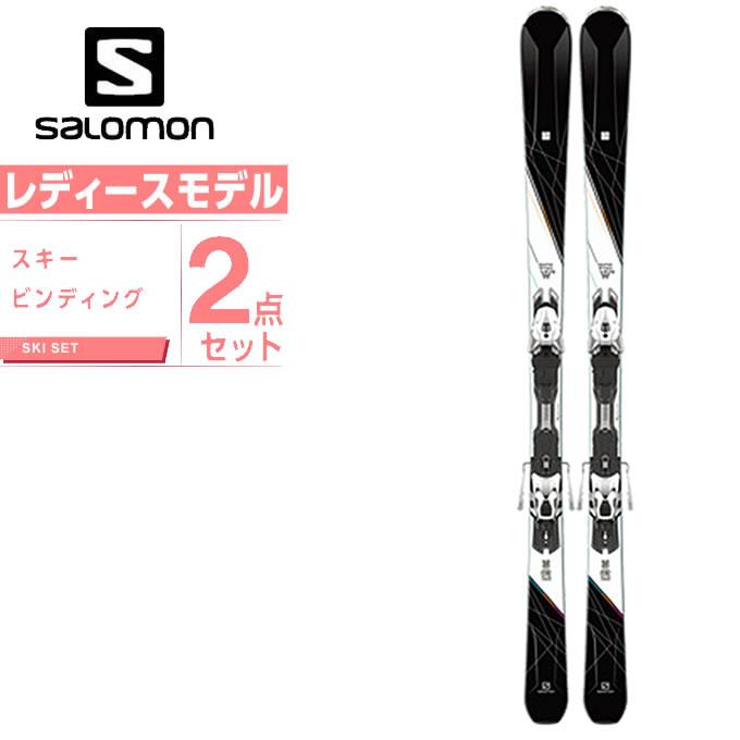 【スキーセットクーポンで10%OFF 12/19 20:00~12/26 1:59】 サロモン スキー板 セット金具付 レディース スキー板+ビンディング W-MAX10 +MARCURY11 W salomon