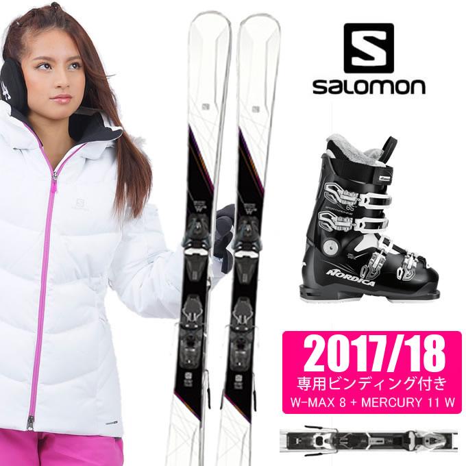 サロモン salomon スキー板 3点セット メンズ W-MAX 8 + MERCURY 11 + SPORTMACHINE 65W ANTBKWH スキー板+ビンディング+ブーツ