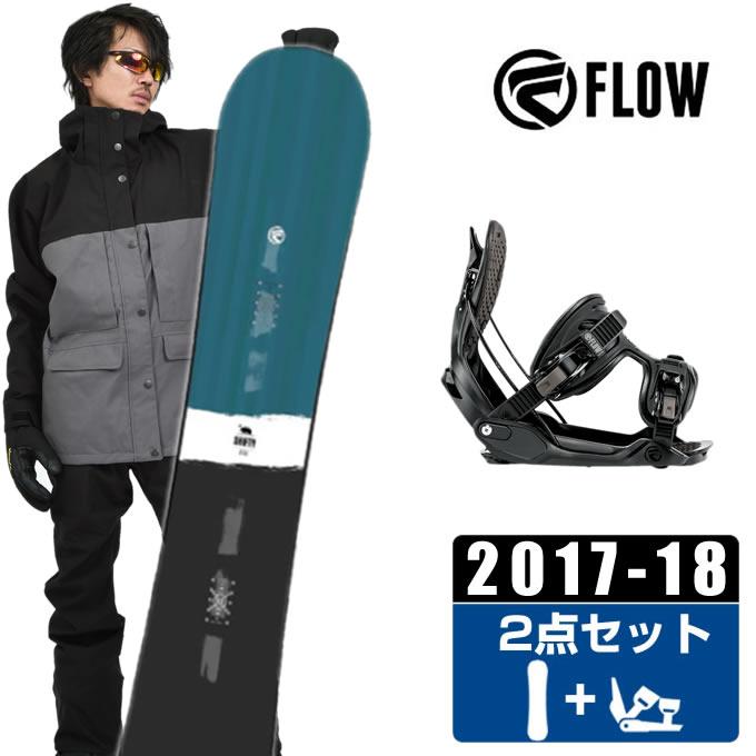 フロー FLOW スノーボード 2点セット メンズ SHIFTY BLUE JAPAN LTD + ALPHA ボード+ビンディング
