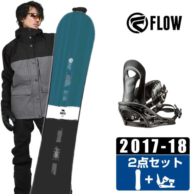 【クーポン利用で1000円引 11/18 23:59まで】 フロー FLOW スノーボード 2点セット メンズ SHIFTY BLUE JAPAN LTD + PR BLACK ボード+ビンディング