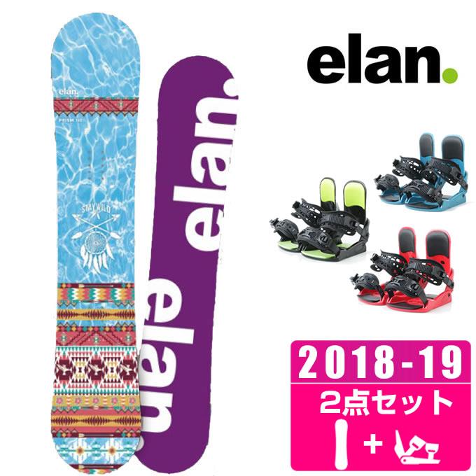 エラン ELAN スノーボード 2点セット レディース PRISM + KONNECT
