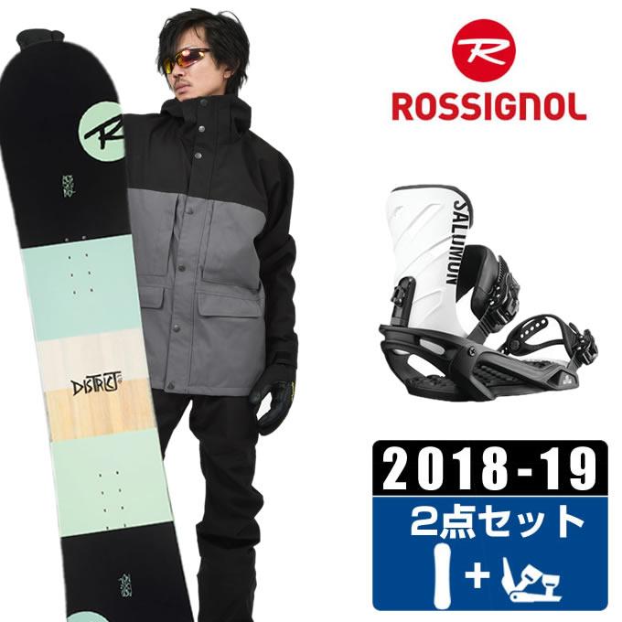 ロシニョール ROSSIGNOL スノーボード 2点セット メンズ DISTRICT + RHYTHM ボード+ビンディング