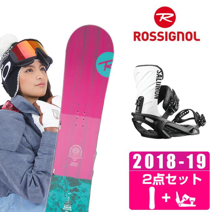ロシニョール ROSSIGNOL スノーボード 2点セット レディース GALA + RHYTHM BK/WHT ボード+ビンディング