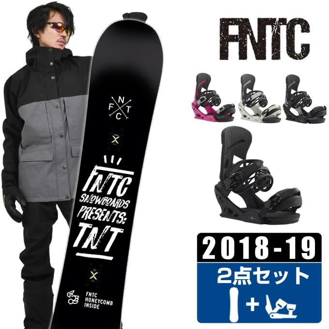 FNTC エフエヌティーシー スノーボード 2点セット メンズ TNT + MISSION ボード+ビンディング