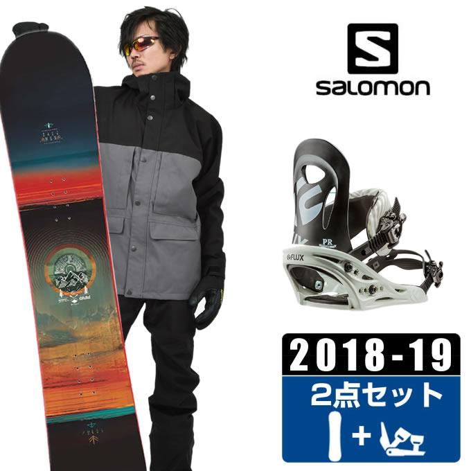 サロモン salomon スノーボード 2点セット メンズ PULSE + PR BK/WHITE ボード+ビンディング