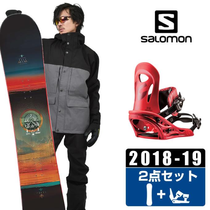 サロモン salomon スノーボード 2点セット メンズ PULSE + PR RED ボード+ビンディング