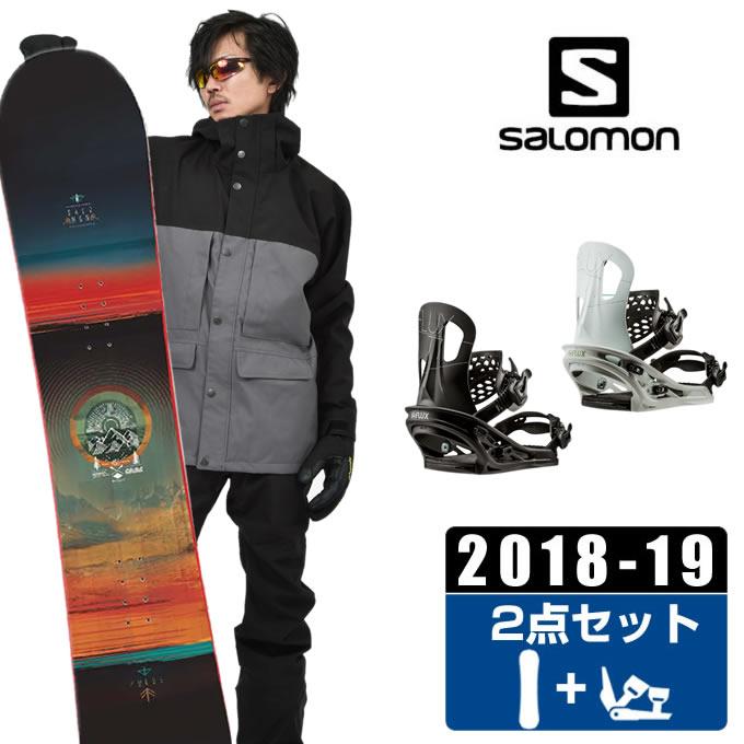 サロモン salomon スノーボード 2点セット メンズ PULSE + TT ボード+ビンディング