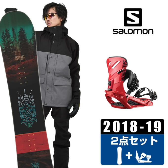【クーポン利用で1000円引 11/18 23:59まで】 サロモン salomon スノーボード 2点セット メンズ SUBJECT MEN + RHYTHM RED ボード+ビンディング