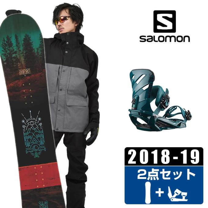 【クーポン利用で1000円引 11/18 23:59まで】 サロモン salomon スノーボード 2点セット メンズ SUBJECT MEN + DARK TEAL ボード+ビンディング