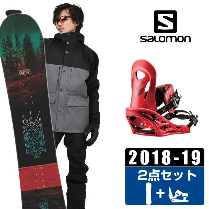 【クーポン利用で1000円引 11/18 23:59まで】 サロモン salomon スノーボード 2点セット メンズ SUBJECT MEN + PR RED ボード+ビンディング