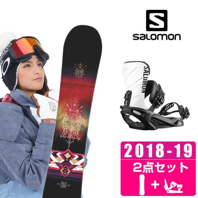 サロモン salomon スノーボード 2点セット レディース SUBJECT WOMEN + RHYTHM BK/WHT ボード+ビンディング