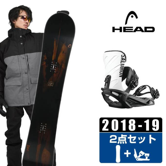 ヘッド HEAD スノーボード 2点セット メンズ FUSION + RHYTHM BK/WHT ボード+ビンディング