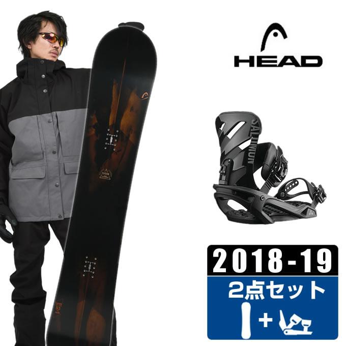 ヘッド HEAD スノーボード 2点セット メンズ FUSION + RHYTHM BLACK ボード+ビンディング