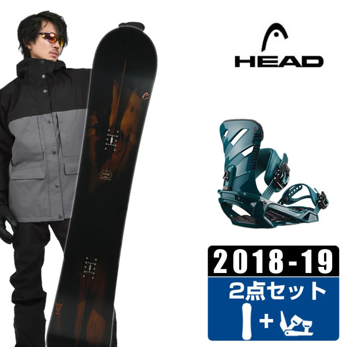 【ポイント3倍 10/4 15:00~10/11 8:59】 ヘッド HEAD スノーボード 2点セット メンズ FUSION + RHYTHM DARK TEAL ボード+ビンディング