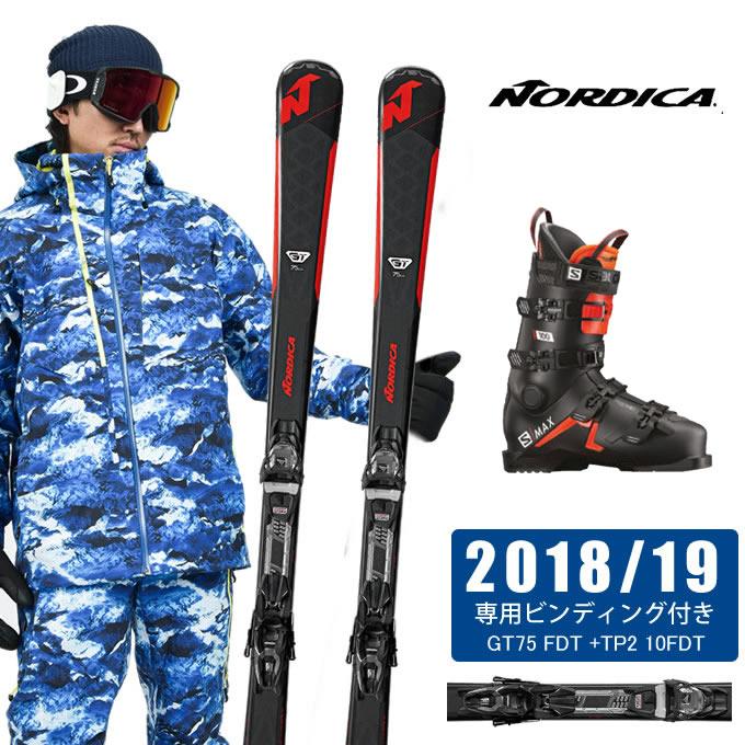 ノルディカ NORDICA スキー板 3点セット メンズ GT75 FDT + TP2 10FDT + S/MAX 100 スキー板+ビンディング+ブーツ