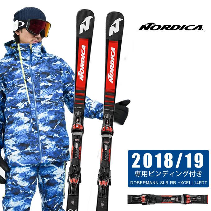 【クーポン利用で1000円引 11/18 23:59まで】 ノルディカ NORDICA スキー板セット 金具付 メンズ DOBERMANN SLR RB +XCELL14FDT ドーベルマン