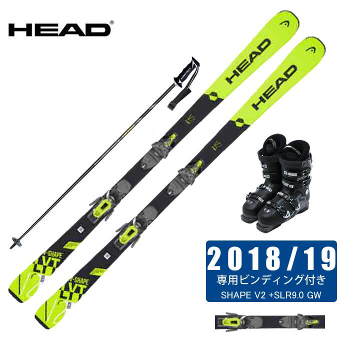 ヘッド HEAD スキー板 4点セット メンズ SHAPE V2 +SLR9.0 GW + SLR 9.0 GW V2 + FALCON