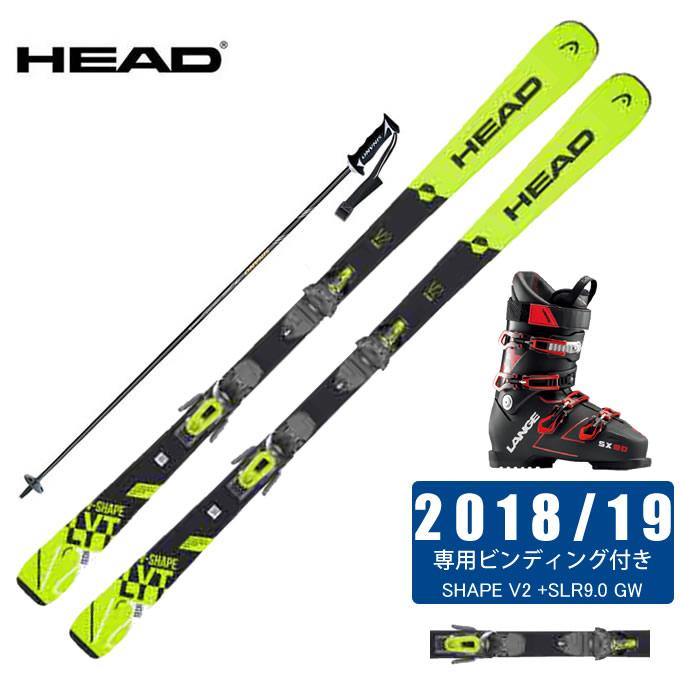 ヘッド HEAD スキー板 4点セット メンズ V-SHAPE V2 +SLR9.0 GW + SX 90 tr. black-red + CX-FALCON