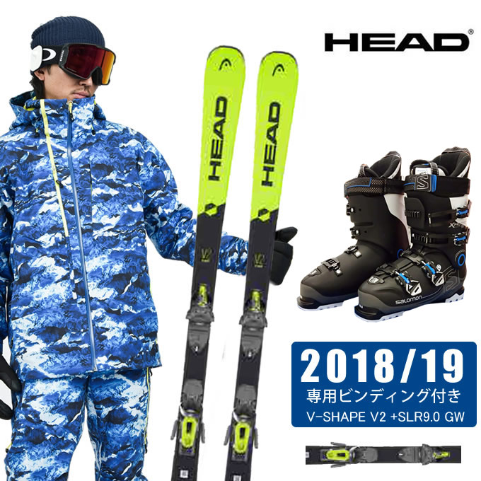 ヘッド HEAD スキー板 3点セット メンズ V-SHAPE V2 +SLR9.0 GW + X-PRO SPORTS 100 スキー板+ビンディング+ブーツ