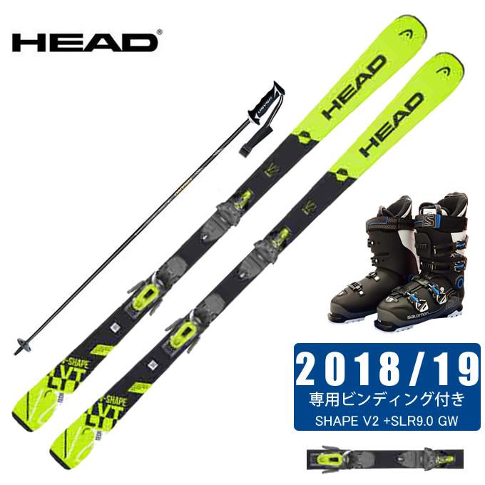 ヘッド HEAD スキー板 4点セット メンズ V-SHAPE V2 +SLR9.0 GW + X-PRO SPORTS 100 + CX-FALCON