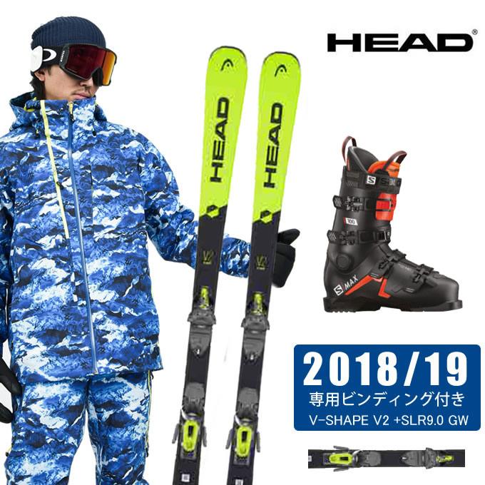 ヘッド HEAD スキー板 3点セット メンズ V-SHAPE V2 +SLR9.0 GW + S/MAX 100 スキー板+ビンディング+ブーツ