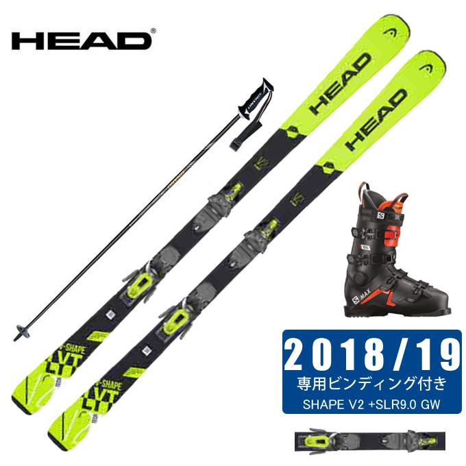 【クーポン利用で1000円引 11/18 23:59まで】 ヘッド HEAD スキー板 4点セット メンズ V-SHAPE V2 +SLR9.0 GW + S/MAX 100 + CX-FALCON