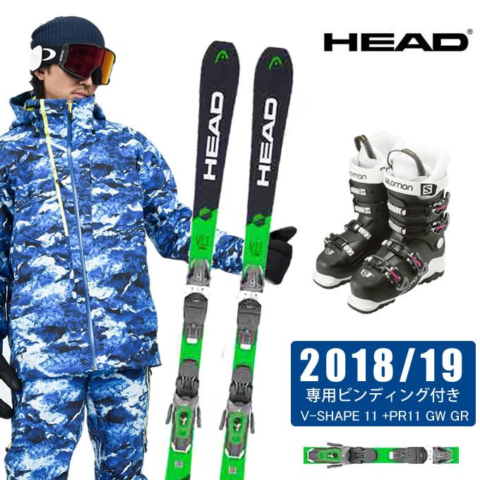 ヘッド HEAD スキー板 3点セット メンズ V-SHAPE 11 +PR11 GW GR + X ACCESS 60W WIDE WB スキー板+ビンディング+ブーツ