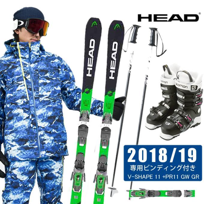 ヘッド HEAD スキー板 4点セット メンズ V-SHAPE 11 + PR11 GW + X ACCESS 60W WIDE WB + SLALOM