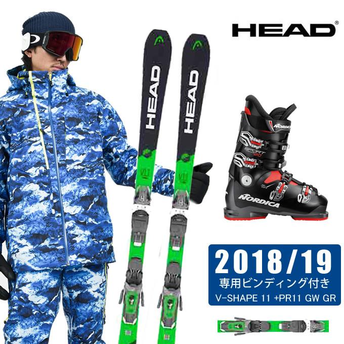 【ポイント3倍 10/4 15:00~10/11 8:59】 ヘッド HEAD スキー板 3点セット V-SHAPE 11 +PR11 GW + SPORTMACHINE 80