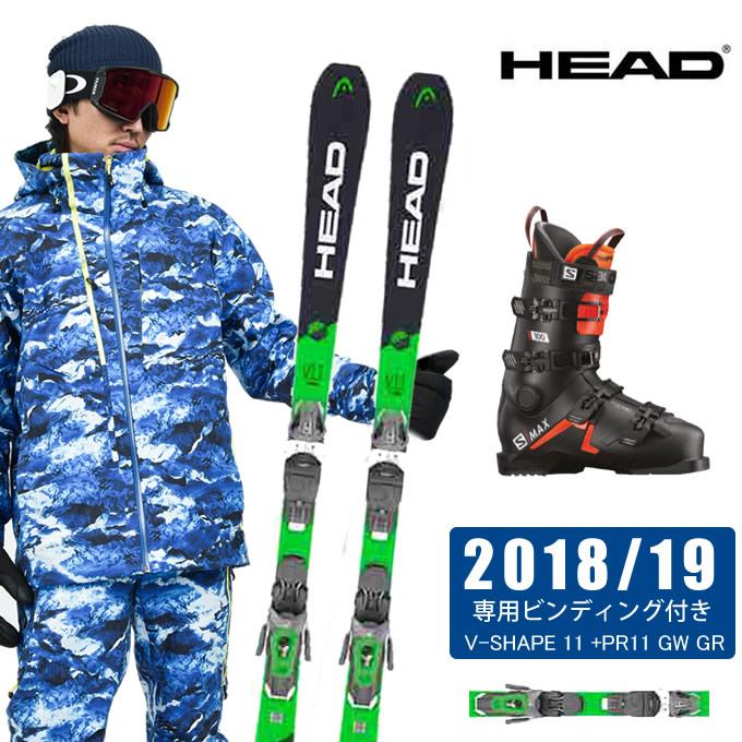 ヘッド HEAD スキー板 3点セット メンズ V-SHAPE 11 +PR11 GW + S/MAX 100