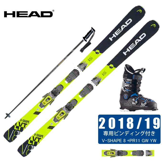 ヘッド HEAD スキー板 4点セット メンズ V-SHAPE 8 +PR11 GW YW + X PRO 90 + CX-FALCON