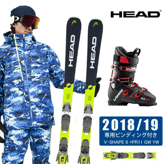 ヘッド HEAD スキー板 3点セット メンズ V-SHAPE 8 +PR11 GW YW + SX 90 tr. black-red スキー板+ビンディング+ブーツ