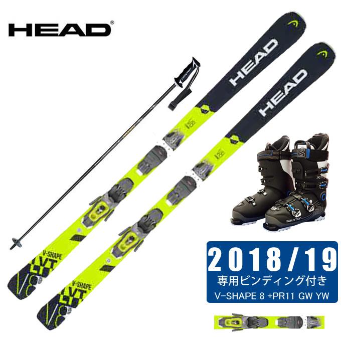 ヘッド HEAD スキー板 4点セット メンズ V-SHAPE 8 +PR11 GW YW + X-PRO SPORTS 100 + CX-FALCON