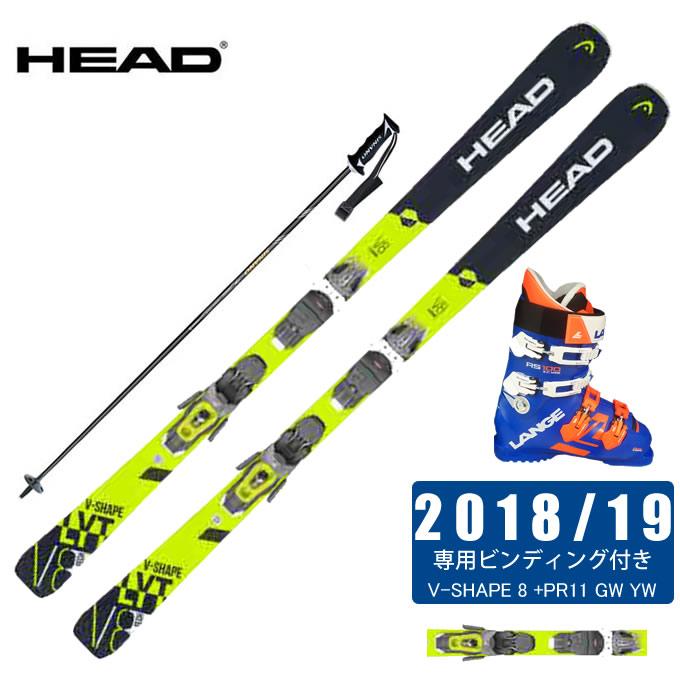ヘッド HEAD スキー板 4点セット メンズ V-SHAPE 8 +PR11 GW YW + LBG1500 + CX-FALCON