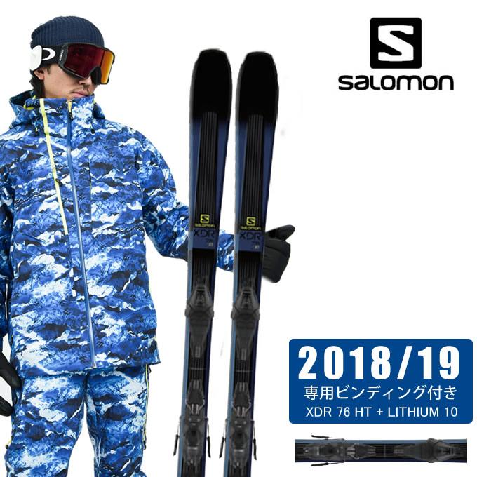 サロモン ( salomon ) スキー板セット 金具付 メンズ XDR 76 HT + LITHIUM 10 エックスディーアール