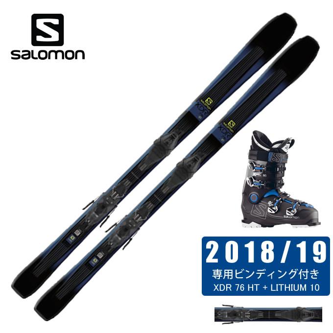 サロモン salomon スキー板 3点セット メンズ S/MAX W6 + LITHIUM 10W + SX 70W WH スキー板+ビンディング+ブーツ