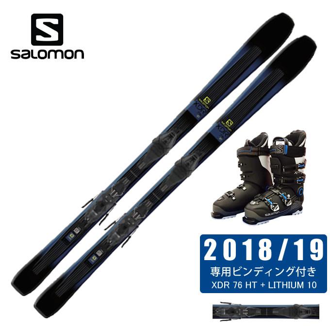 サロモン ( salomon ) スキー板 3点セット メンズ XDR 76 HT + LITHIUM 10 + X-PRO SPORTS 100 スキー板+ビンディング+ブーツ