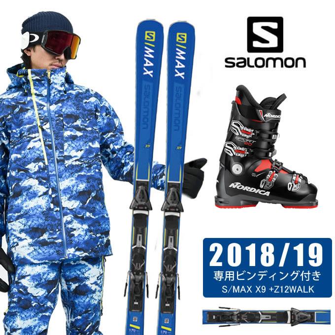 【店頭受取でポイント5倍 6/1 6/1 S/MAX 10:00~6/3 23:59】 サロモン ANTBKRD salomon スキー板 3点セット メンズ S/MAX X9 +Z12WALK + SPORTMACHINE 80 ANTBKRD スキー板+ビンディング+ブーツ, ハルエチョウ:e4b9a99f --- sunward.msk.ru