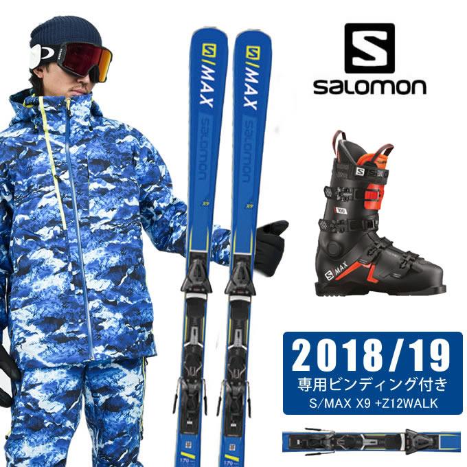 サロモン salomon スキー板 3点セット メンズ S/MAX X9 +Z12WALK + S/MAX 100 スキー板+ビンディング+ブーツ