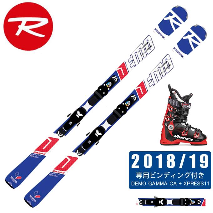 ロシニョール ROSSIGNOL スキー板 3点セット メンズ DEMO GAMMA CA + XPRESS11 + SPEEDMACHINE 110