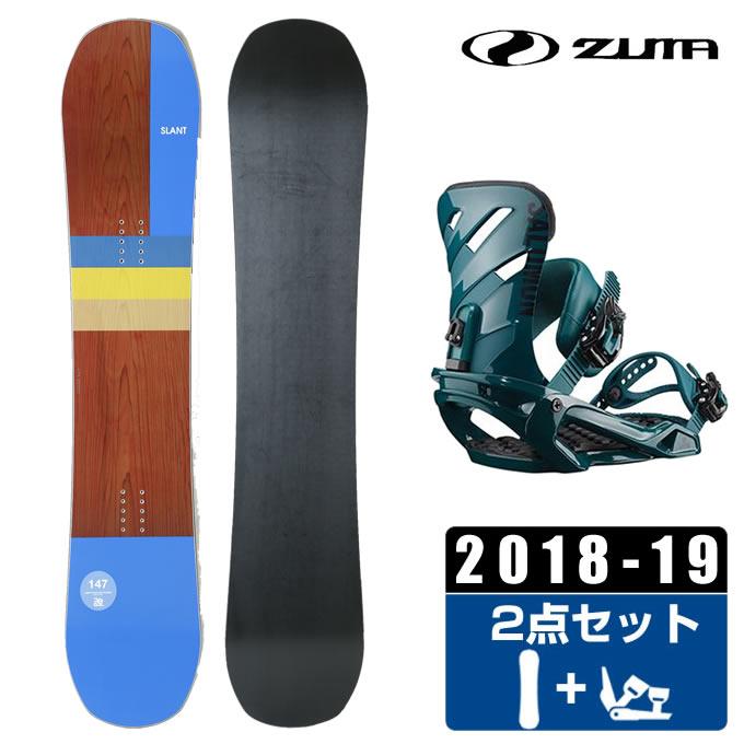【ポイント3倍 10/4 15:00~10/11 8:59】 ツマ ZUMA スノーボード 2点セット メンズ SLANT + RHYTHM